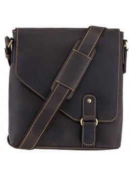 Тёмно-коричневая сумка-мессенджер 16071 OIL BRN Aspin