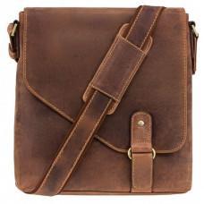 Коричневая кожаная сумка на плечо мужская Visconti 16071 OIL TAN Aspin