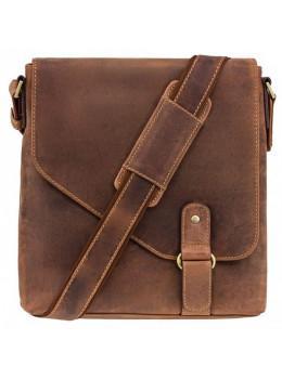 Коричнева шкіряна сумка на плече чоловіча Visconti 16071 OIL TAN Aspin