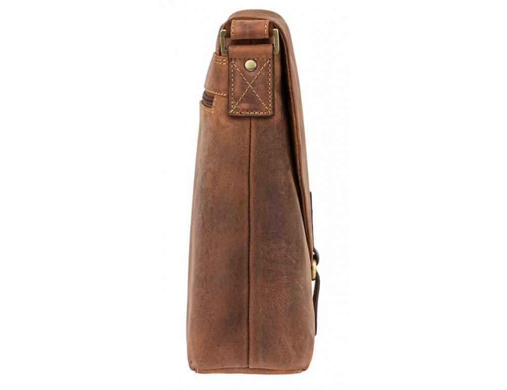 Коричневая кожаная сумка на плечо мужская Visconti 16071 OIL TAN Aspin - Фото № 3