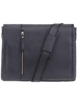 Чёрная кожана сумка Visconti Foster 16072 OIL BLK