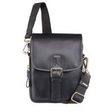 Чёрная кожаная сумка через плечо Visconti 16208 BLK