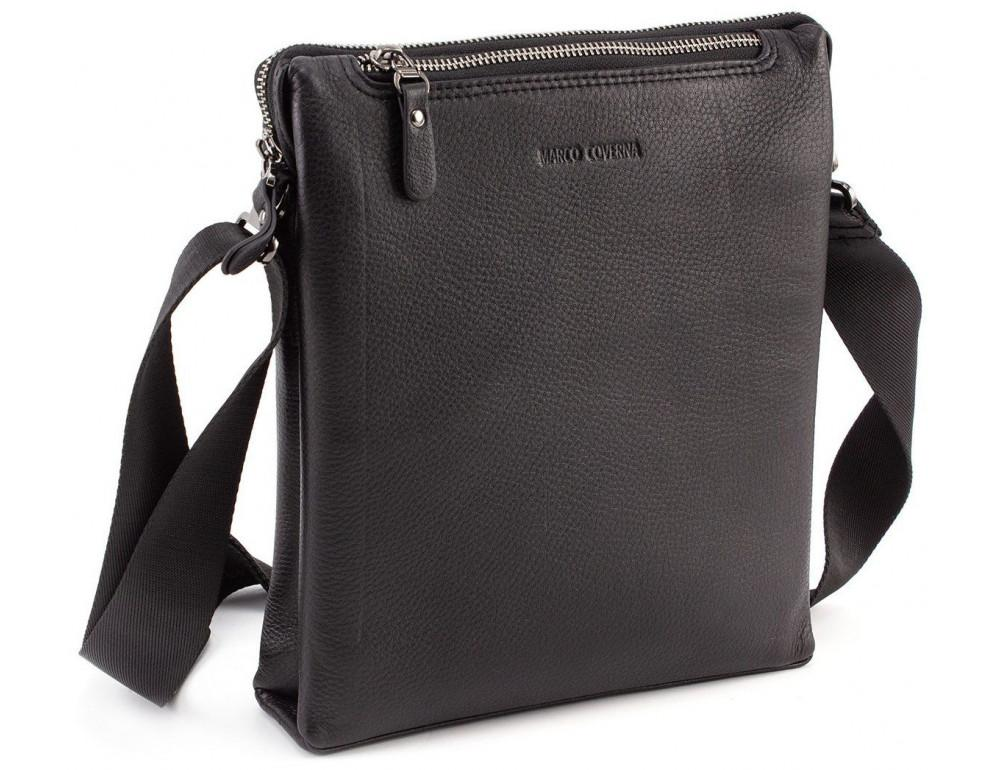 Чёрная мужская наплечная сумка Marco Coverna MC 1637-3 Black - Фото № 1