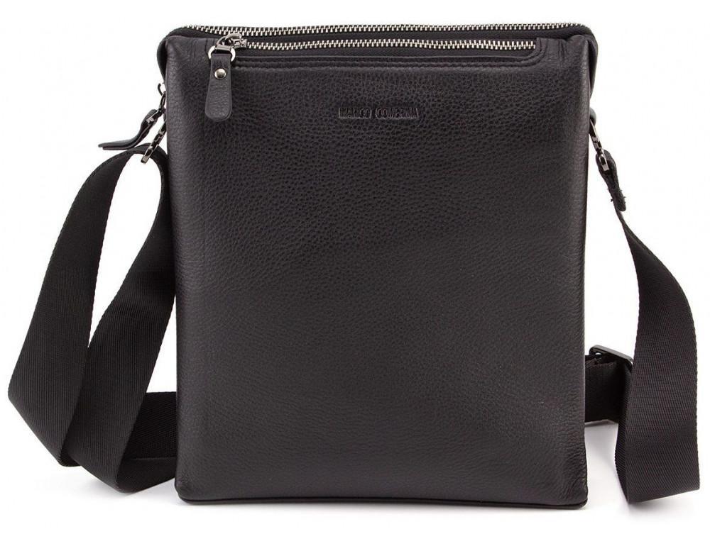 Чёрная мужская наплечная сумка Marco Coverna MC 1637-3 Black - Фото № 4