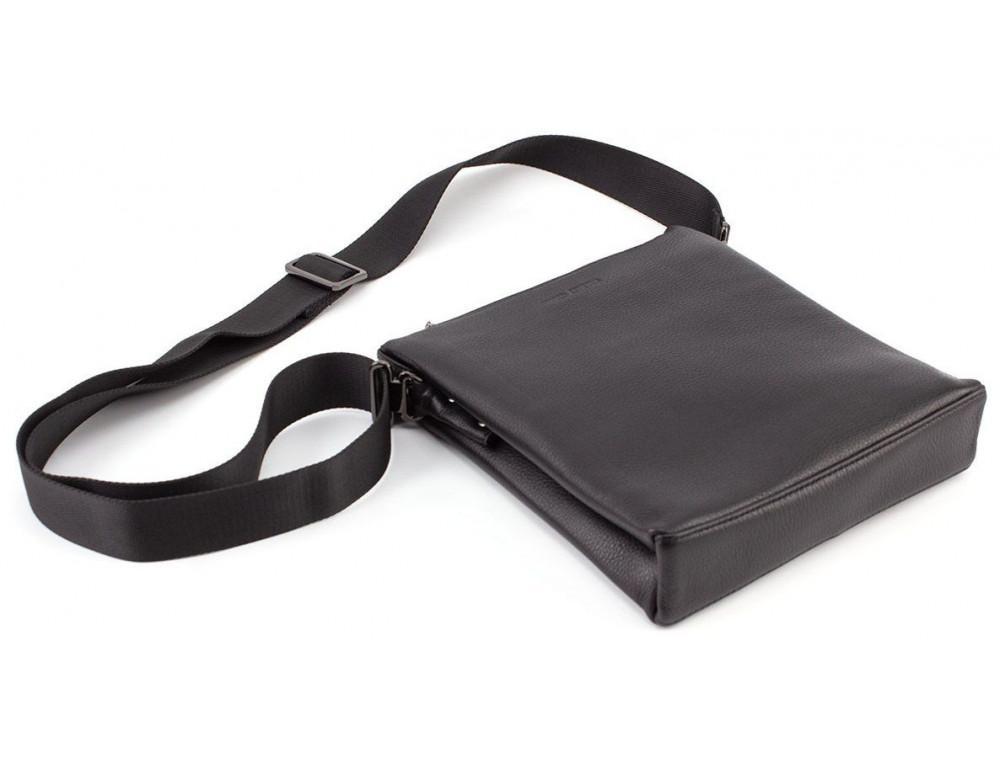 Чёрная мужская наплечная сумка Marco Coverna MC 1637-3 Black - Фото № 5