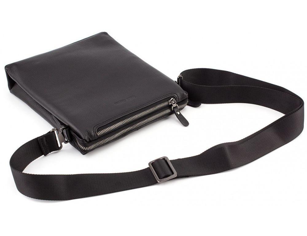 Чёрная мужская наплечная сумка Marco Coverna MC 1637-3 Black - Фото № 6