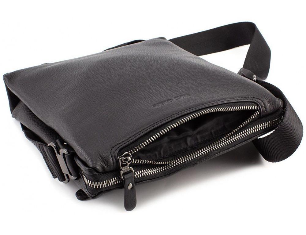 Чёрная мужская наплечная сумка Marco Coverna MC 1637-3 Black - Фото № 7