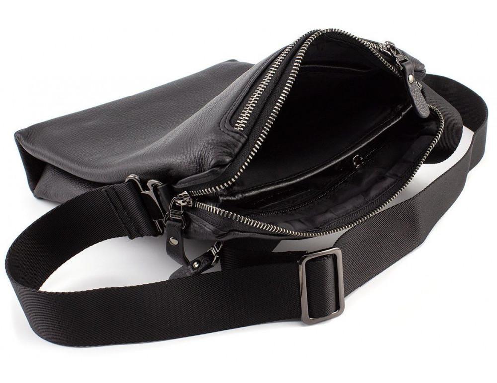Чёрная мужская наплечная сумка Marco Coverna MC 1637-3 Black - Фото № 8