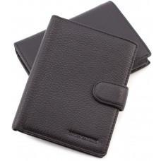 Чёрный кожаный портмоне с отделением под паспорт Marco Coverna 167-2 black