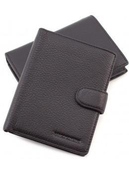 Чёрный кожаный портмоне Marco Coverna 167-2 black