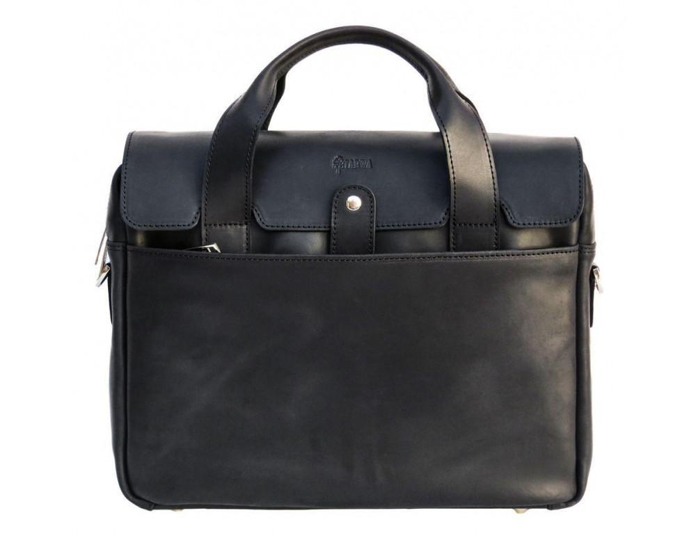 Чёрный кожаный портфель мужской TARWA RA-1812-4lx - Фото № 1