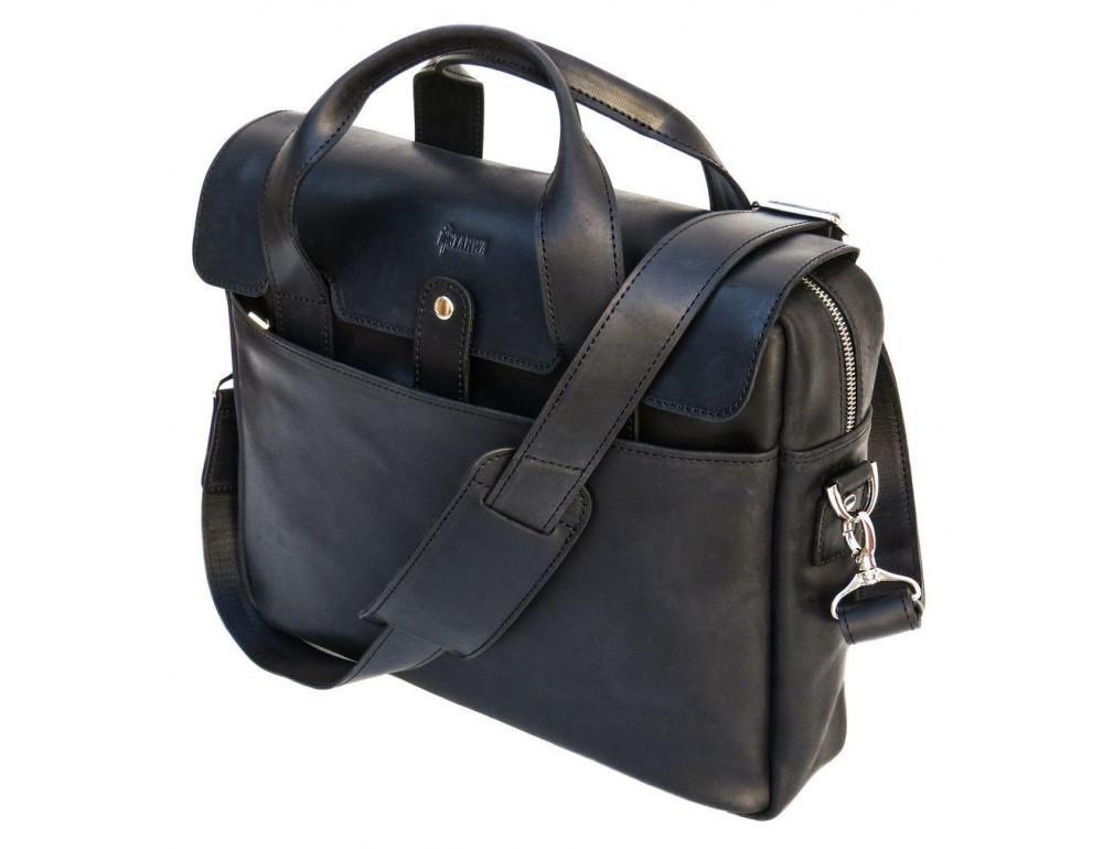 Чёрный кожаный портфель мужской TARWA RA-1812-4lx - Фото № 3