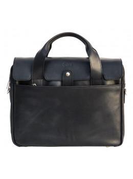 Чорний шкіряний портфель чоловічий TARWA RA-1812-4lx