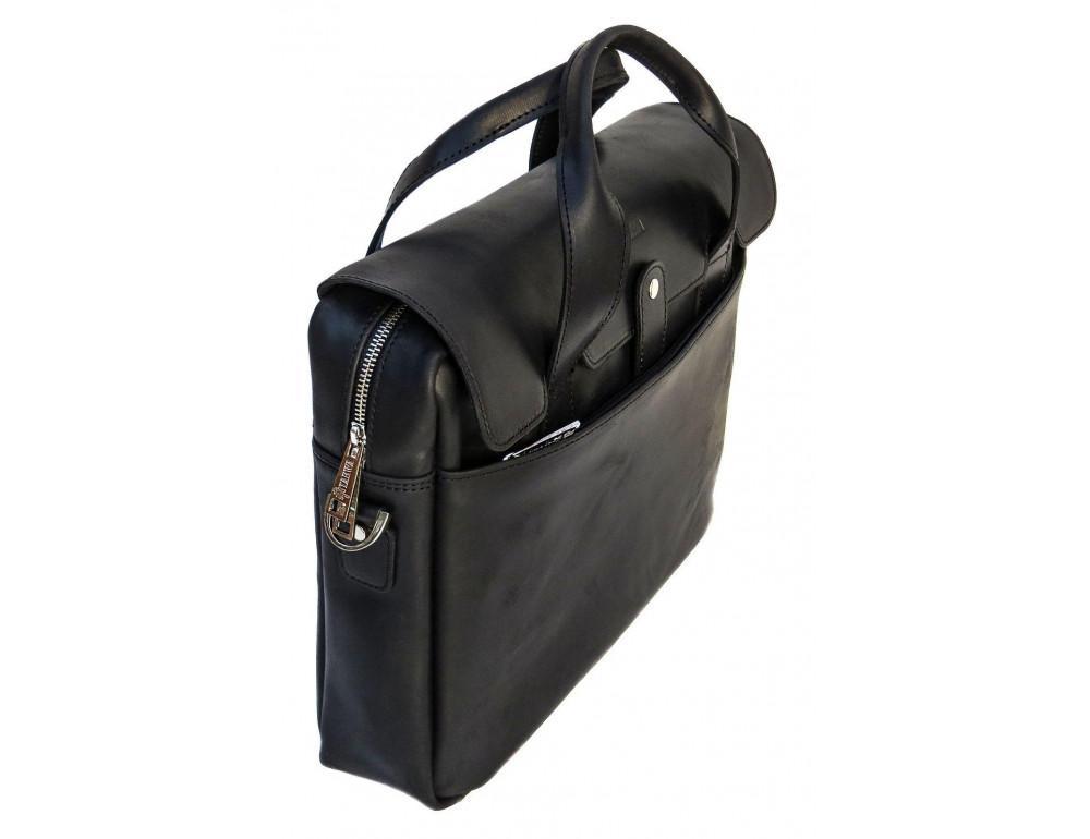 Чёрный кожаный портфель мужской TARWA RA-1812-4lx - Фото № 4