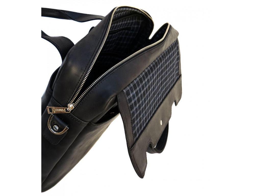 Чёрный кожаный портфель мужской TARWA RA-1812-4lx - Фото № 5
