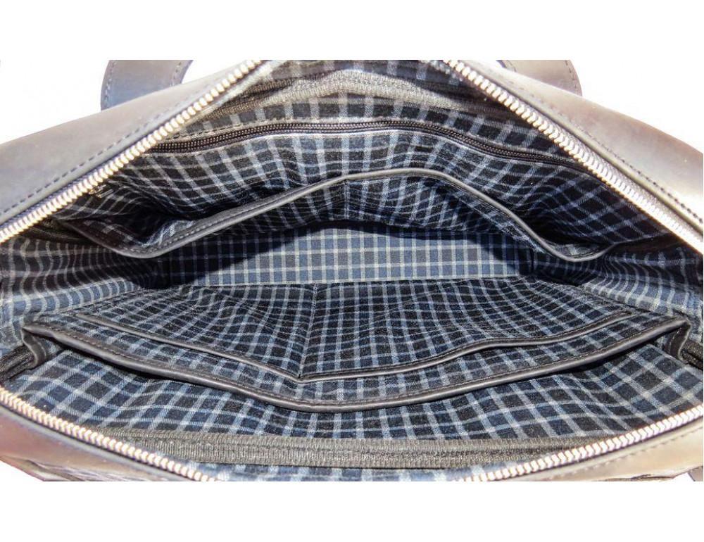 Чёрный кожаный портфель мужской TARWA RA-1812-4lx - Фото № 7