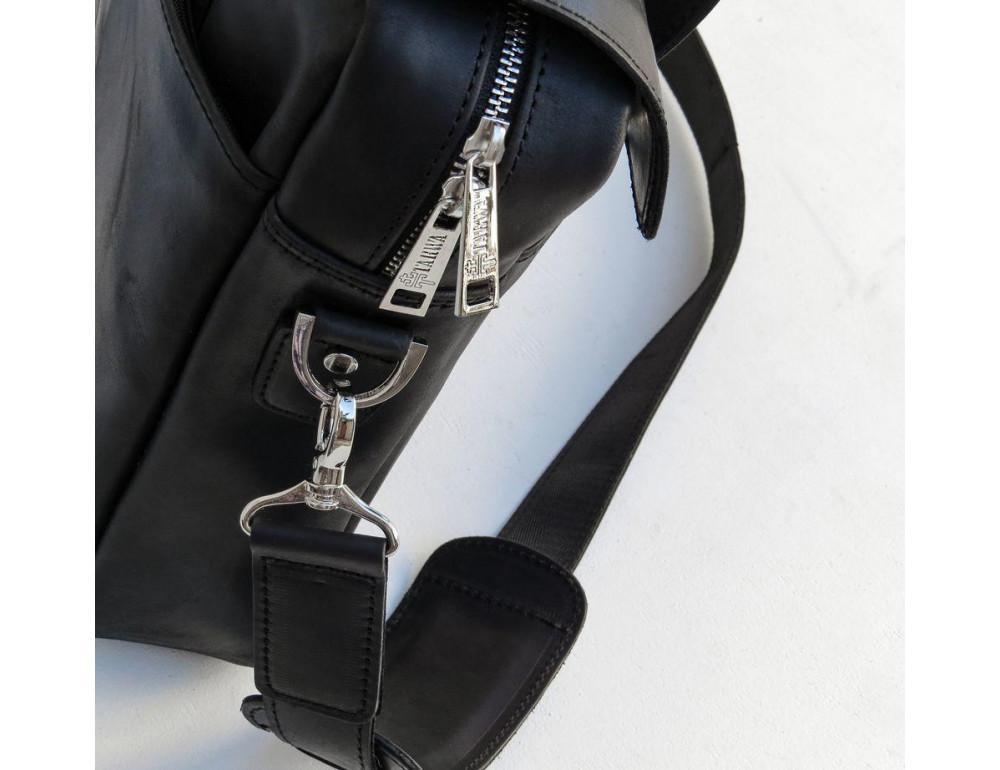 Чёрный кожаный портфель мужской TARWA RA-1812-4lx - Фото № 8