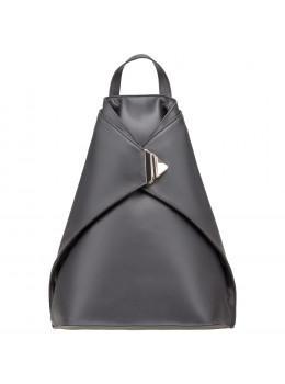 Чёрный женский кожаный рюкзак Visconty 18258 Brooke  BLK