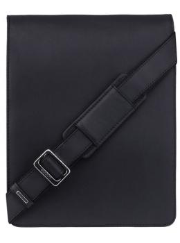 Чёрная кожаная сумка через плечо для мужчин Visconti 18410 BLK