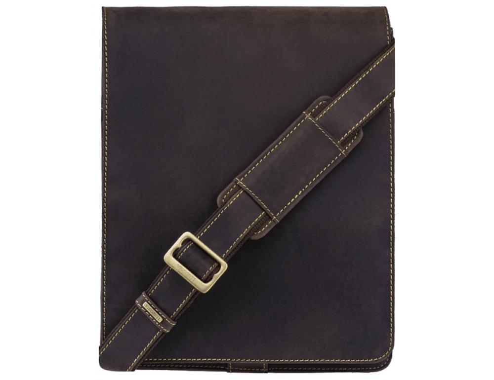 Тёмно-коричневая сумка через плечо мужская Visconti 18410 OIL BRN