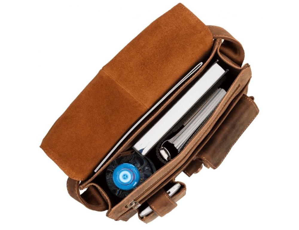Коричневая сумка через плечо мужская Visconti 18410 OIL TAN Jasper - Фото № 2