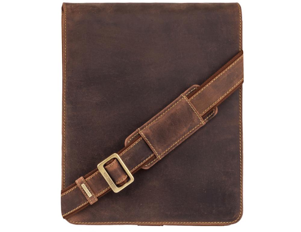 Коричневая сумка через плечо мужская Visconti 18410 OIL TAN Jasper - Фото № 1