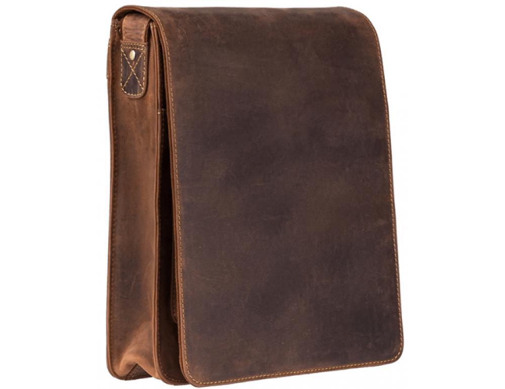 Коричневая сумка через плечо мужская Visconti 18410 OIL TAN Jasper - Фото № 3