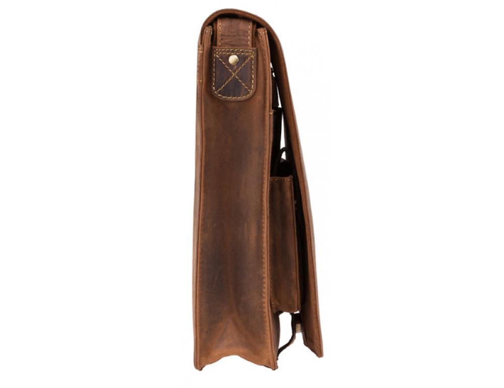 Коричневая сумка через плечо мужская Visconti 18410 OIL TAN Jasper - Фото № 4