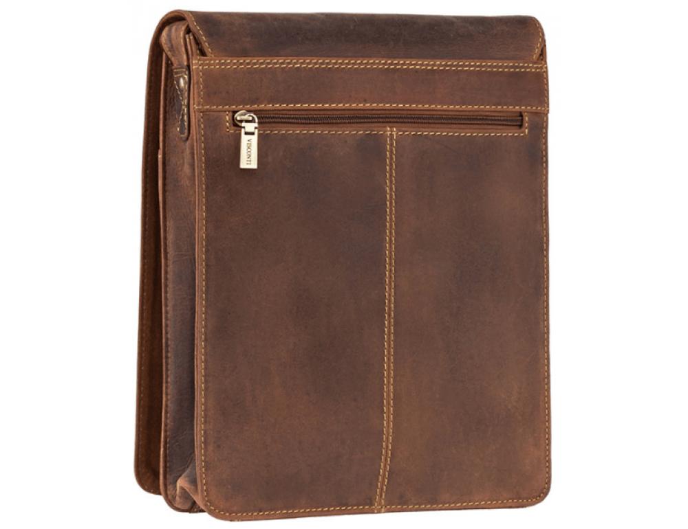 Коричневая сумка через плечо мужская Visconti 18410 OIL TAN Jasper - Фото № 5
