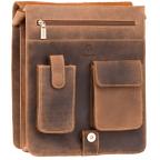 Коричневая сумка через плечо мужская Visconti 18410 OIL TAN Jasper - Фото № 106