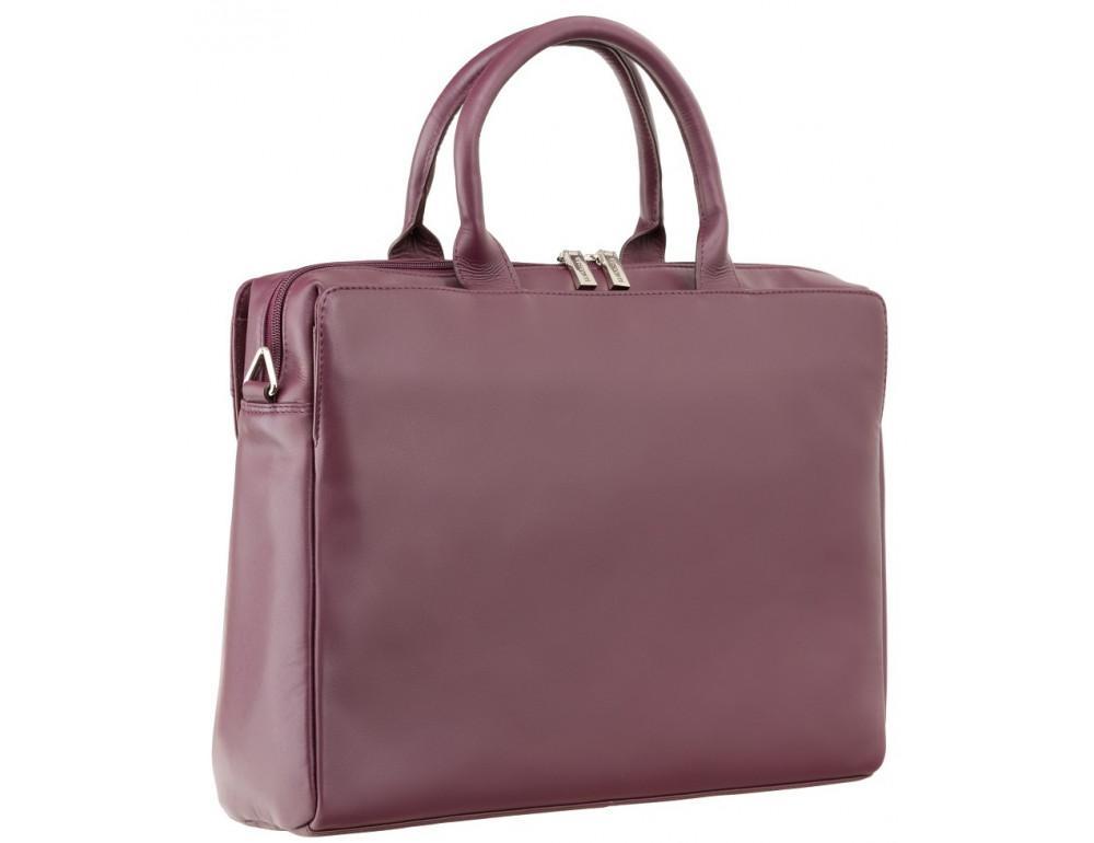 Сливовая кожаная сумка под ноутбук женская Visconti 18427 PLUM - Фото № 2