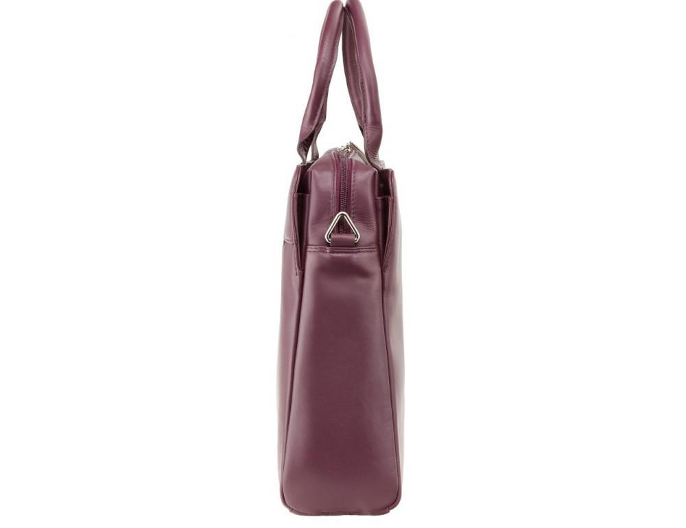 Сливовая кожаная сумка под ноутбук женская Visconti 18427 PLUM - Фото № 3