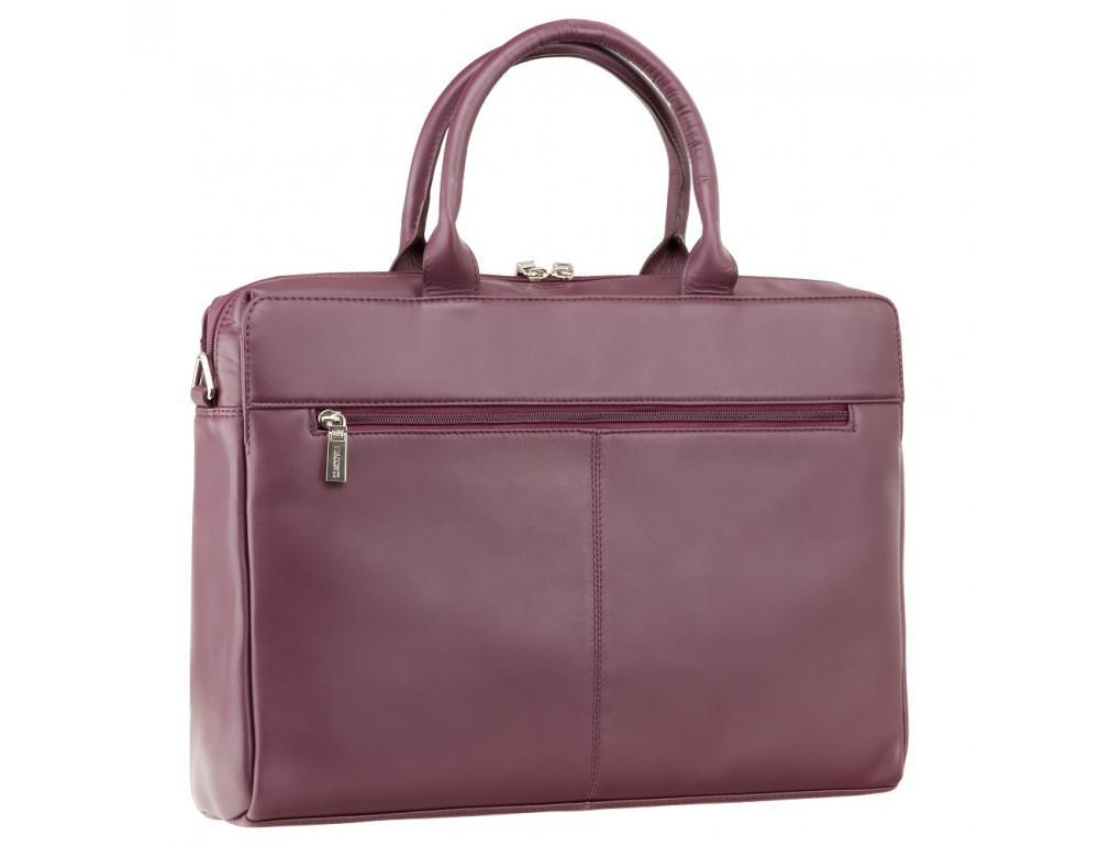 Сливовая кожаная сумка под ноутбук женская Visconti 18427 PLUM - Фото № 4