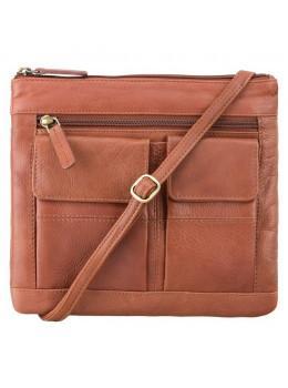 Коричневая маленькая женская сумочка Visconti 18608 BRN