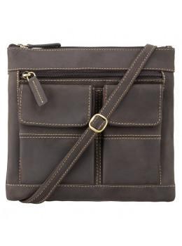 Тёмно-коричневая женская сумка из винтажной кожи Visconti 18608 OIL BRN