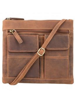 Женская маленькая кожаная сумочка Visconti 18608 OIL TAN