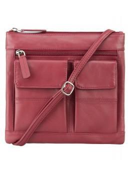 Красная женская сумочка маленького размера Visconti 18608 RED