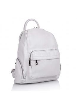 Белый женский рюкзак из натуральной кожи VIRGINIA CONTI - VC2238 White