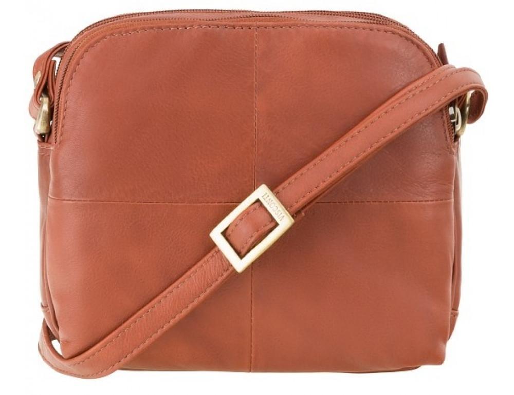 Коричневая кожаная женская сумка Visconti 18939 BRN Holly - Фото № 1