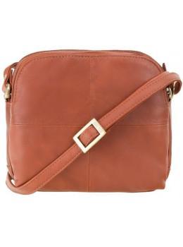 Коричневая кожаная женская сумка Visconti 18939 BRN Holly