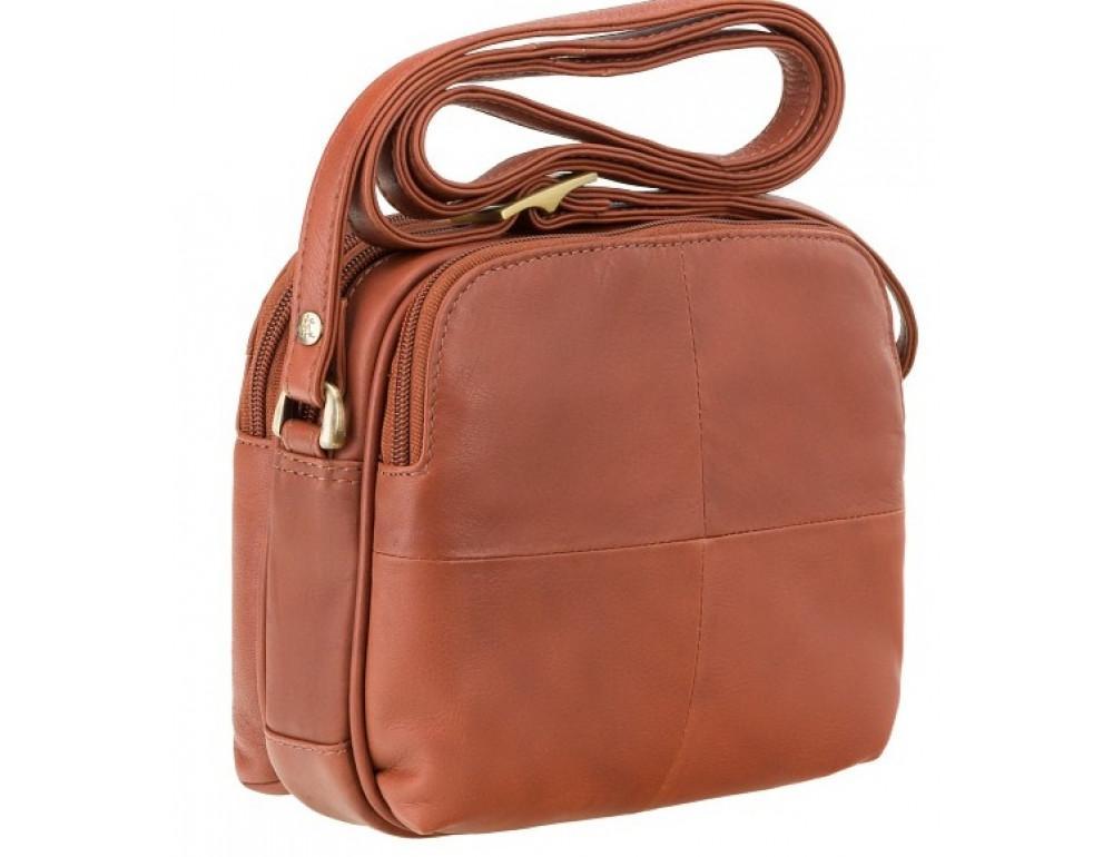 Коричневая кожаная женская сумка Visconti 18939 BRN Holly - Фото № 2