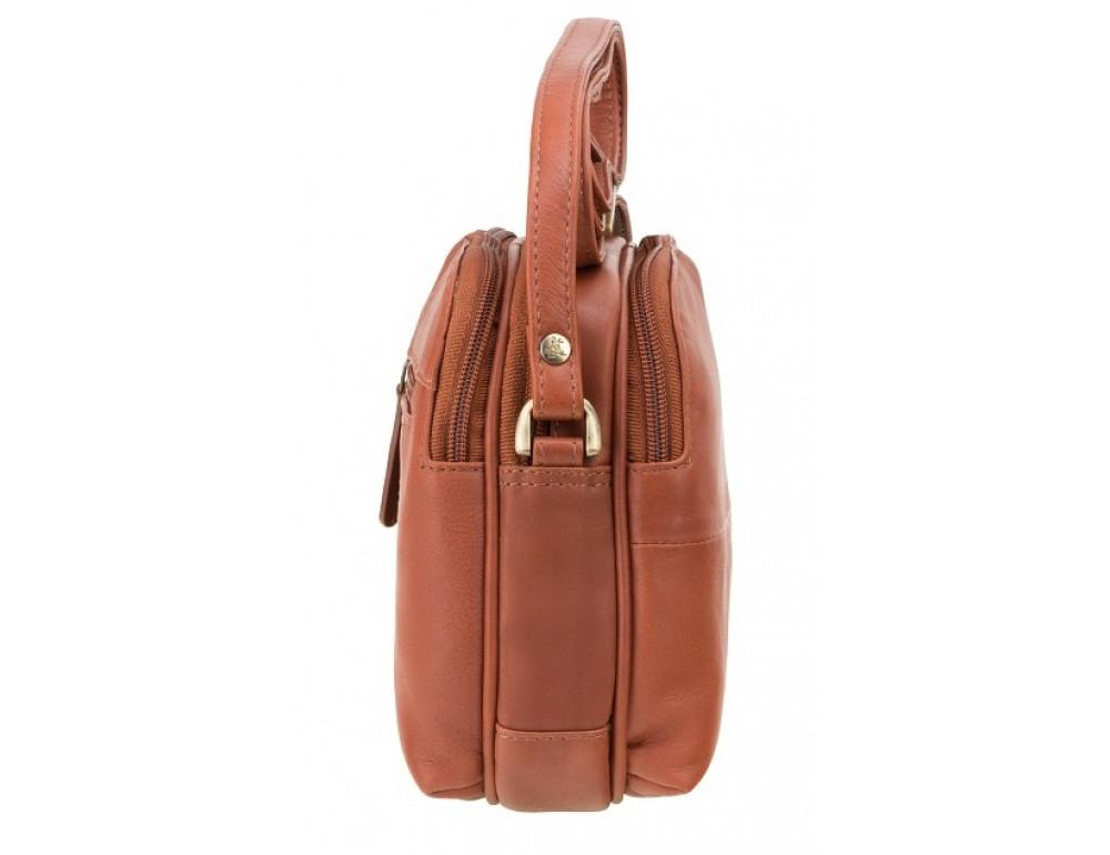 Коричневая кожаная женская сумка Visconti 18939 BRN Holly - Фото № 3