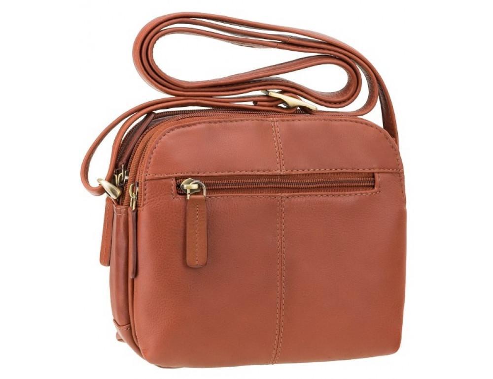 Коричневая кожаная женская сумка Visconti 18939 BRN Holly - Фото № 4