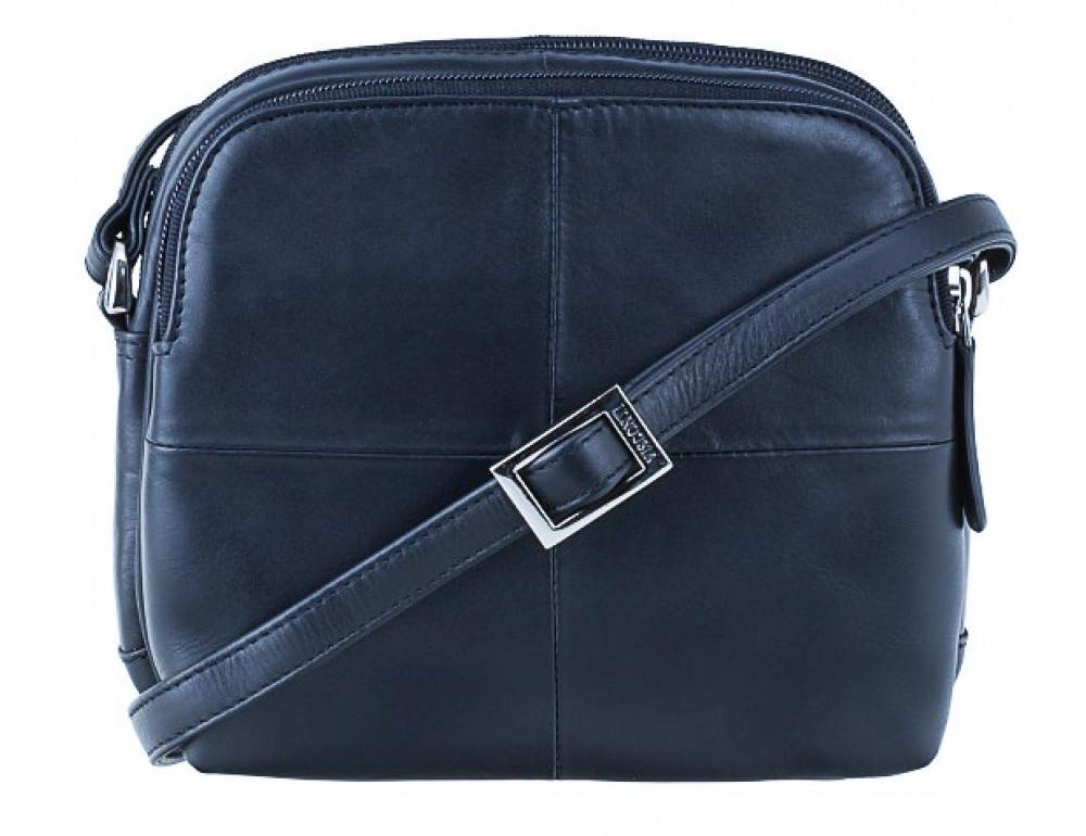 Синяя кожаная женская сумка Visconti 18939 NV Holly - Фото № 1