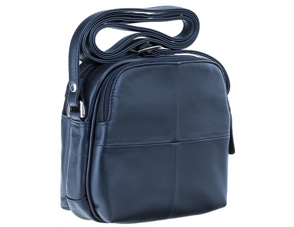 Синяя кожаная женская сумка Visconti 18939 NV Holly - Фото № 2