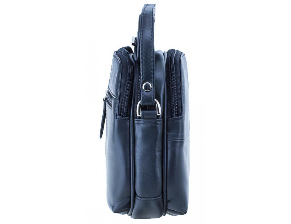 Синяя кожаная женская сумка Visconti 18939 NV Holly - Фото № 3