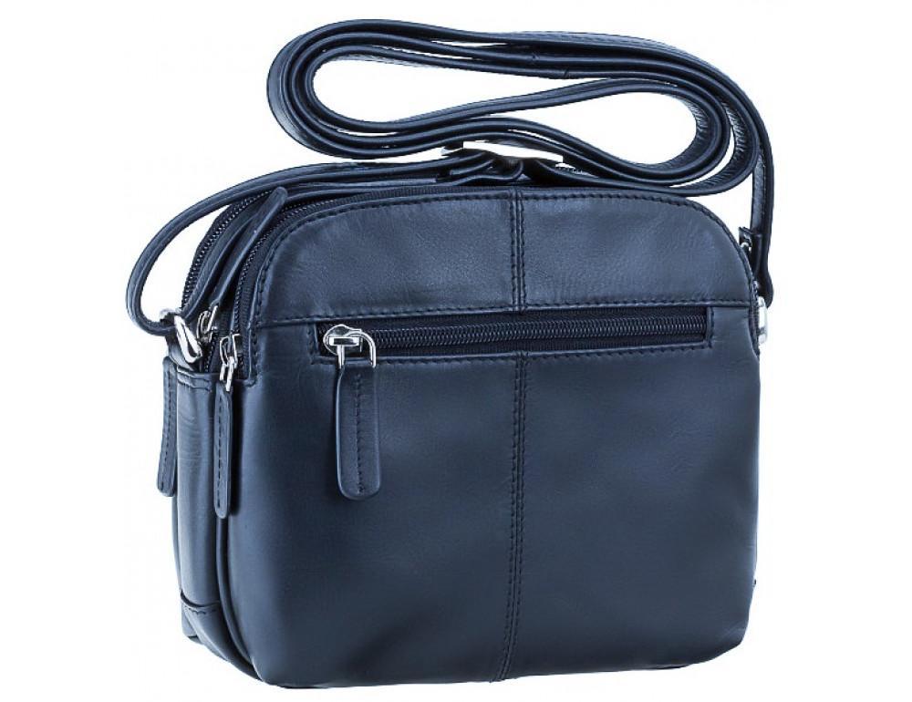 Синяя кожаная женская сумка Visconti 18939 NV Holly - Фото № 4