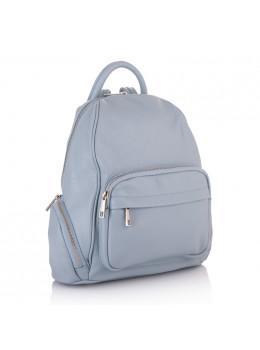 Голубой женский рюкзак кожаный VIRGINIA CONT - VC2238 Blue