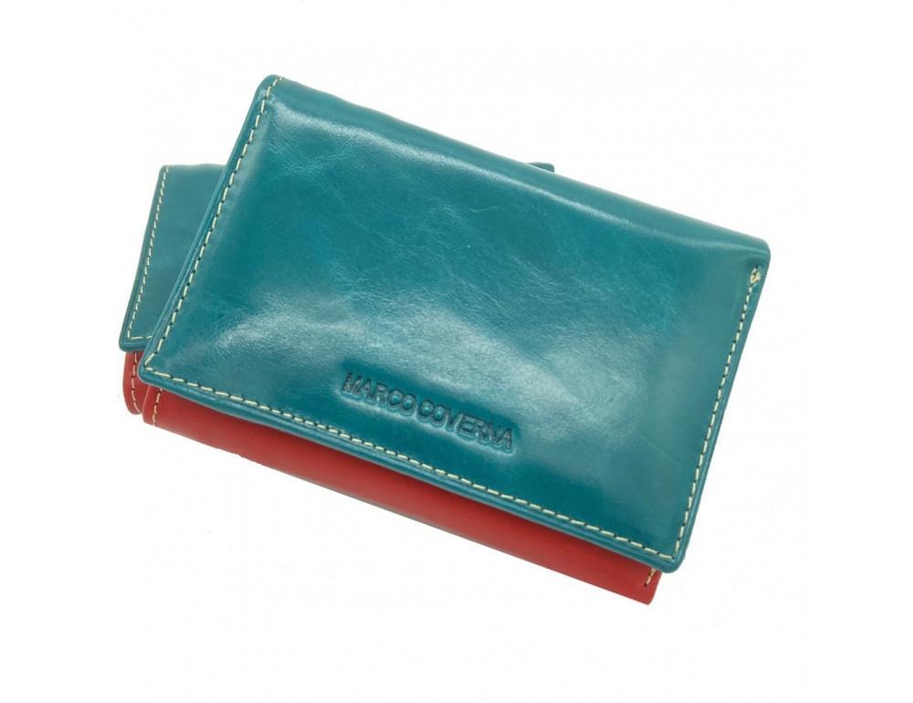 Синий кожаный кошелёк Marco Coverna 2-2068-5 - Фото № 1