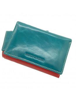 Синий кожаный кошелёк Marco Coverna 2-2068-5